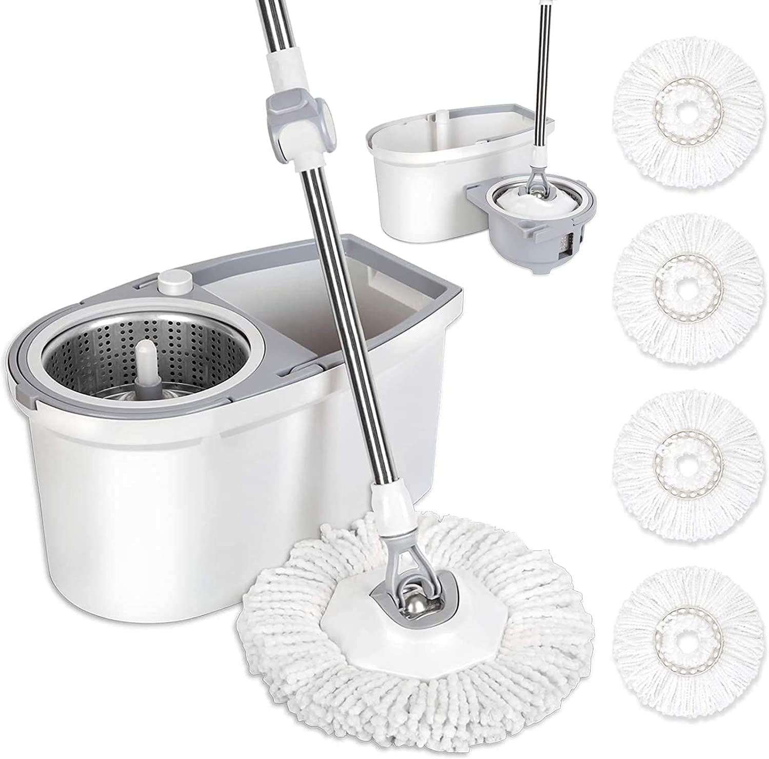 BOOMJOY Now on sale Spin Mop Bucket Floor with Wrin and Cleaning Choice