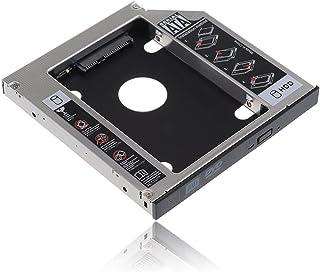 2nd 12.7mmノートPCドライブマウンタ セカンド 光学ドライブベイ用 SATA/HDDマウンタよりCD/DVD CD ROM HDD CADDY に置き換えます
