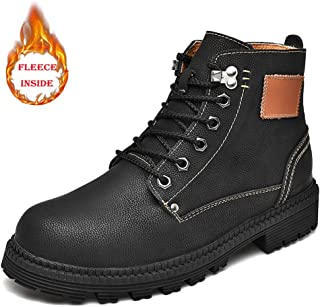 2018 New Arrival Men Boots Men's Casual Simple and Comfortable Faux Fleece Inside Retro High Top Boot Fashion Ankle Work Boot (Convetional is Optional)