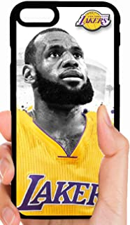 Lebron Lakers Black & White Face Yellow Gold Jersey Basketball Phone Case Cover - Select Model (Galaxy S9 Plus)