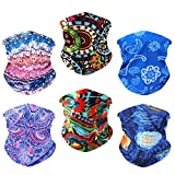 Multifunctional Headbands Neck Gaiters Scarf Bandanas Headwrap Face Mask Neckwarmer for Hiking Biking Fishing Climbing 6PCS
