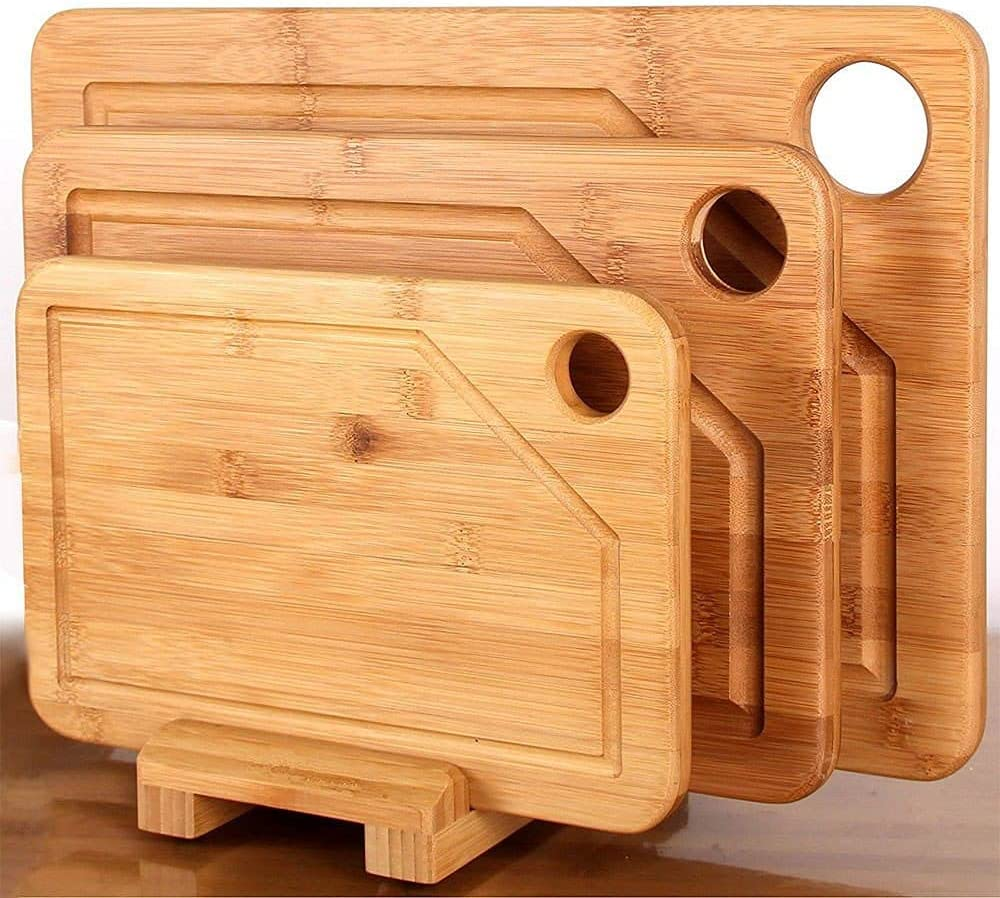 Mohy Bamboo Cutting Popular overseas 2021 new Board Set with of 3 Juice Groove H