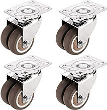 WSWJ Mute Roller verplaatsen van meubilair Rubber wiel worden vastgesteld met Brake Casters (Color : C)