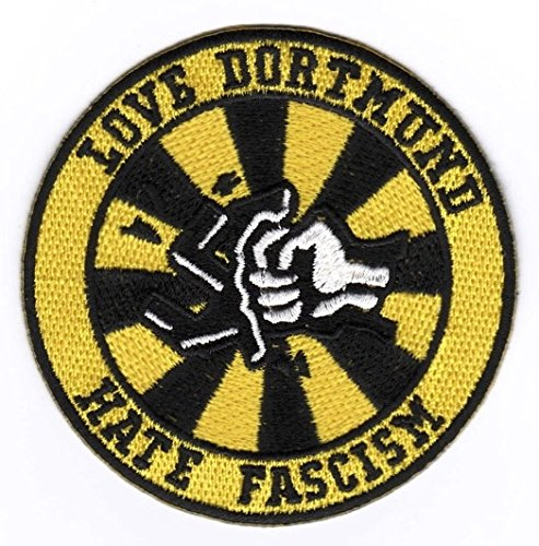 Dortmund Aufnäher/Bügelbild/Iron on Patch Love Dortmund - Hate Fascism