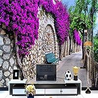 mzznz 3D壁紙花人里離れた村の気分背景壁