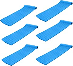"product image for TRC Recreation Serenity 70"" Foam Raft Lounger Pool Float, Bahama Blue (6 Pack)"