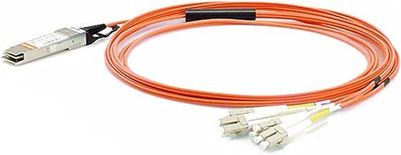 LODFIBER 1m (3ft) EX-QSFP-8LC-AOC1M Juniper Networks Compatible 40G QSFP+ to 4 Duplex LC Breakout Active Optical Cable