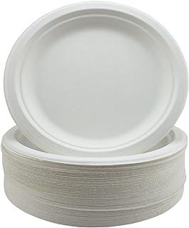 Súper Rígido Bagazo Platos Biodegradable y Desechable -