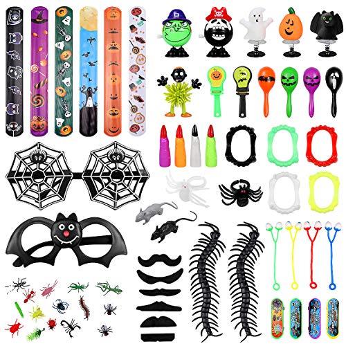 Amosfun - Juego de juguetes para Halloween, 70 unidades, para fiesta de disfraces, cofre del tesoro