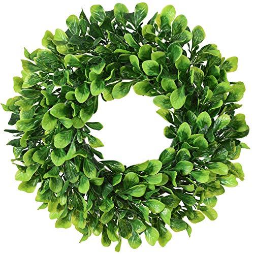 Lvydec Artificial Green Leaves Wreath - 11