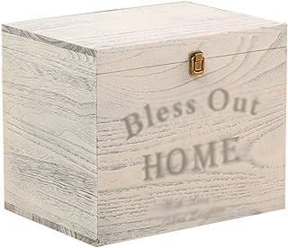 Caja Decorativa de Entrada CD DVD Cinta magnética Soporte de exhibición de Madera Vintage - Hotel Homestay Caja de Almacen...