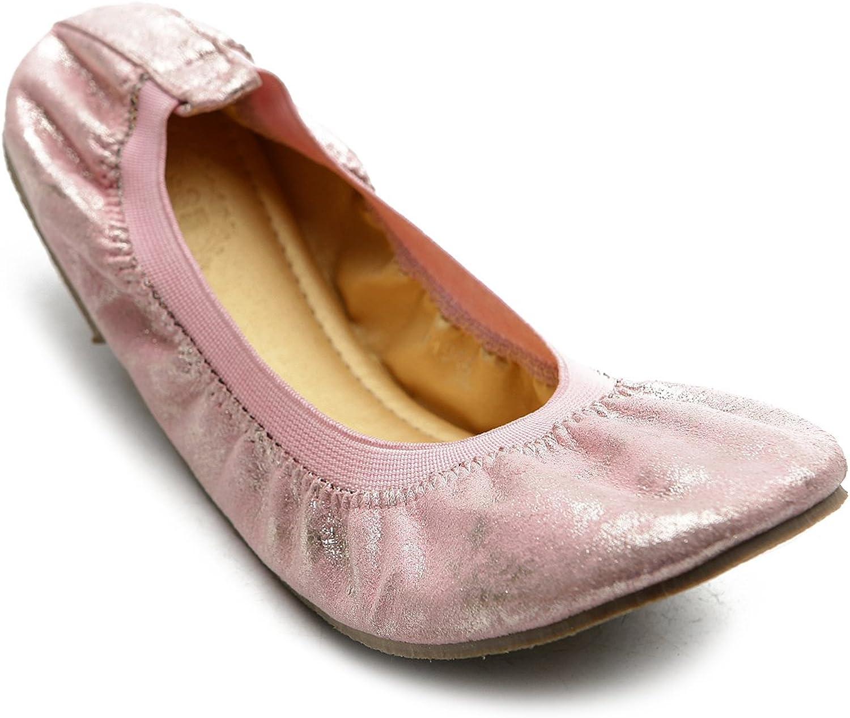 Ollio Women's Ballet shoes Comfort Cute Metalic Multi color Flat