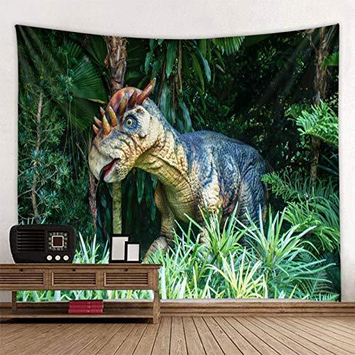 JXWR Dinosaurio Dinosaurio Hoja de Tapiz montada en la Pared Decoración del hogar Tapiz Toalla de Playa Estera de Yoga Manta Paño de Mesa Manta Colgante de Pared 150x130cm