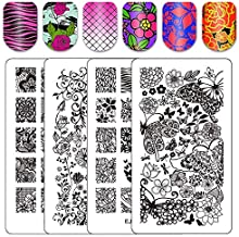 floral stamping plates