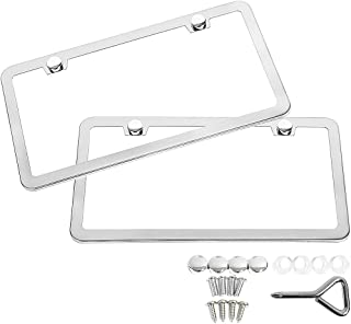 Infiniti QX60 Slim ABS Plastic License Plate Tag Frame Mirror Chrome Screw Cap