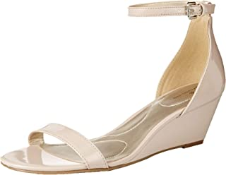 Women's OMIRA Wedge Sandal, Natural, 6.5 Medium US