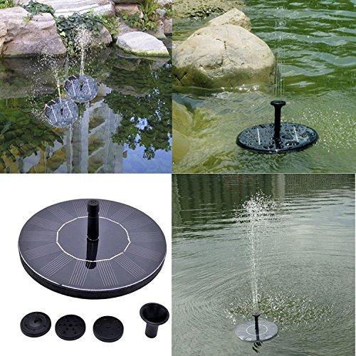 Suyi Fontaine Solaire , Pompe à Eau Solaire sans batterie 1.4W Panneau solaire Pompe pour bassin ou Décoration de Jardin