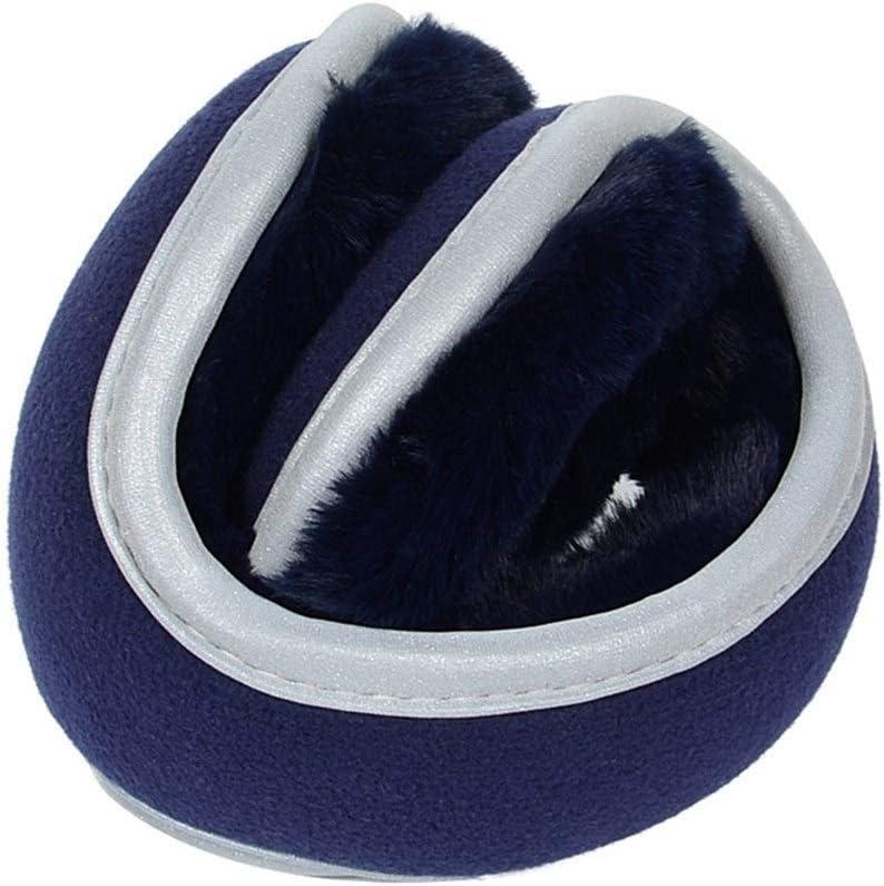 ZYXLN-Earmuffs,Reflective Earmuffs Men's Earmuffs Earmuffs Keep Warm Safety Bike Earmuffs Protective Body Equipment Foldable Ear Warmers Winter Ear Muffs (Color : Navy)