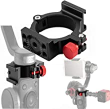 4-Ring V2 Cold Shoe 1/4 Adapter Ring Clamp with Cold Shoe Compatible for Zhiyun Smooth 4 Applied to Rode Microphone LED Light, Anti-Scratch Video Light Filmmaker Monitor Vlogging