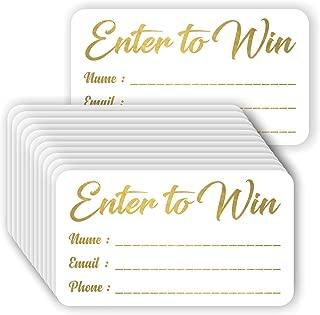 Enter to Win Cards - (Pack of 100) Gold Foil Letterpress 3.5