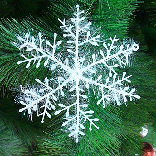 30 pcs Copo Nieve Colgante Árbol de Navidad,GZQES,Adornos para la Decoración de Fiesta de Navidad (10 CM)