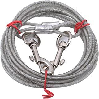 Yuehao ロングリード 犬 係留 リード スチール ワイヤー ロープ 繋留器具 しつけ用 小型 中型 大型 犬用(5mm*3m)