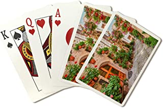 Umbria, Italy - Street Scene in Small Italian Town - Photography A-91554 (Playing Card Deck - 52 Card Poker Size with Jokers)