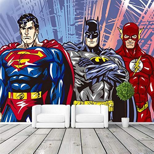 Benutzerdefinierte 3D Wandbilder Batman Wallpaper Comics Fototapete Jungen Kinder Schlafzimmer Raumdekor @ 150 * 105cm