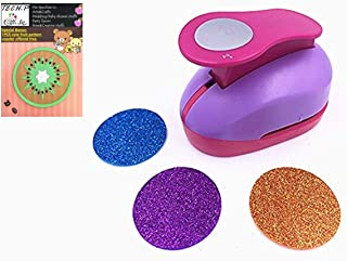 TECH-P Creative Life 50mm Hand Press Album Cards Paper Craft Punch,Card Scrapbooking Engraving Kid Cut DIY Paper Craft Punch. (Circle)+1 PCS TECH-P Branded Gift Coaster Free.