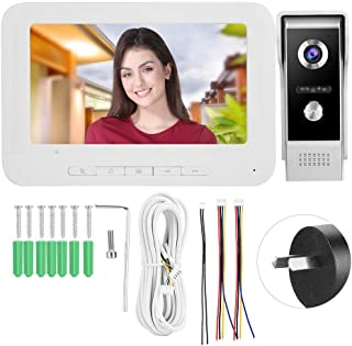 System HD Video Doorbell, Door Phone, LCD Screen 25 Ringtones Offices Public Buildings for Home Security System(Australian...