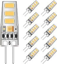 G4 LED Bulb Mini 2 Watt G4 Bulb Equivalent to 20W G4 Halogen Bulb Replacement, T3 JC Type Bi-Pin G4 Base, AC/DC 12V Warm W...