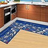 Alfombra de cocina de dibujos animados 3D para suelo, alfombra de cocina antideslizante impermeable, alfombras de baño absorbentes de agua, alfombra de habitación, decoración del hogar A10, 50x80cm