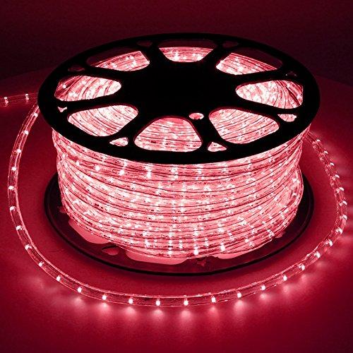 ECD Germany LED Lichtschlauch Lichterschlauch 50 Meter - Rot - 36 LEDs/m - Innen/Aussen - IP44 - Lichterkette Lichtband Licht Leucht Dekoration Schlauch Leiste Streifen Strip