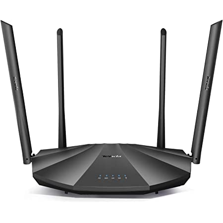 Tenda AC2100 Smart WiFi Router AC19 - Dual Band Gigabit Wireless (up to 2033 Mbps) Internet Router for Home | 4 LAN Ports+1 USB Port | 4X4 MU-MIMO Technology | Parental Control Compatible with Alexa