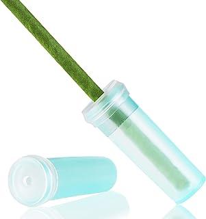 Juvale Blumen-Wasserröhrchen für Blumengestecke und Bastelbedarf – 200 Stück 4,1 cm klar blau