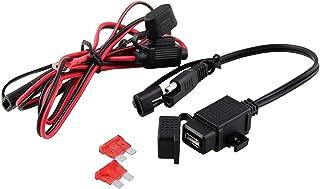Caricabatteria da moto impermeabile USB 12V-24V Alimentatore da SAE a USB Caricabatteria da moto con presa di alimentazione Presa per telefono//GPS MP4