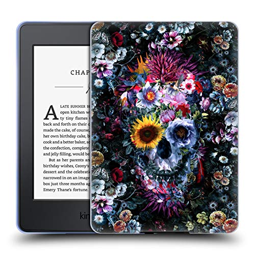 Head Case Designs Officially Licensed Riza Peker Voodoo Skull Skulls 9 Soft Gel Case Compatible with Kindle Paperwhite 1/2 / 3