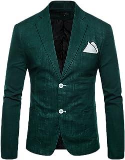 2c88af0fe7f4 Giacca Blazer Da Uomo Casual Elegante Slim Fit Tops Blazers Solido Cappotto  Outwear