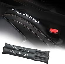 2pcs Asiento de Coche Catcher Caddy Gap Filler Drop Stop Jaguar Logo