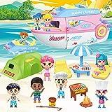 Tacobear Crucero Juguete Casas de Muñecas Juego de Simulación Yate Sets de Muñecas con muñecos...