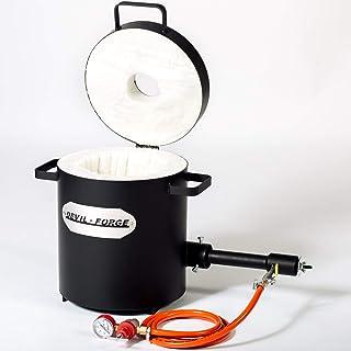 FB2Mb - 10kg GAS METAL MELTING FURNACE | with 1 DFC (180,000 BTU) Burner | Silver Copper Aluminum Brass Bronze