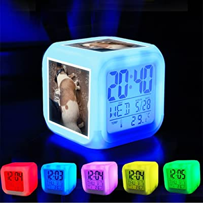 WKZZ R/éveil LED avec /écran LCD pour Chambre /à Coucher