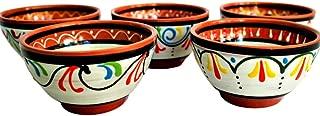 Cactus Canyon Ceramics Spanish Terracotta 5-Piece Small Salsa Bowl Set (European Size), White