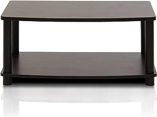 FURINNO Turn-N-Tube No Tools 2-Tier Elevated TV Stand, Espresso/Black