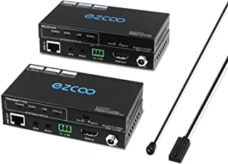 HDMI Extender 4K 60Hz (4:2:0) HDR CEC Bi-Directional IR PoE RS232-230ft 1080P,130ft 4K by Cat5e Cat6 No lag,HDMI Extender ...