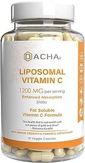 DACHA Nutrition Natural Liposomal Vitamin C - Immune System & Collagen Booster, High Absorption...