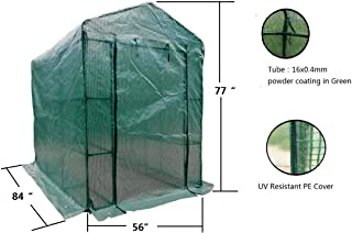 """MTB Outdoor Portable Walk-in Garden The Greenhouse 2 Tiers 12 Shelves with UV Resistant PE Cover - 84"""" Lx56 Wx77 H"""