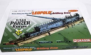 1/144 German Railway Gun 28cm K5(E) LEOPOLD and Artillery Crew Panzer Korps 2 Dragon