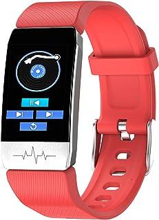 LTLGHY Smartwatch, Reloj Inteligente Impermeable IP68 con Monitor De Sueño Pulsómetro Podómetro Caloría GPS para Deporte Control De Música Bluetooth Compatible con Android iOS,Rojo