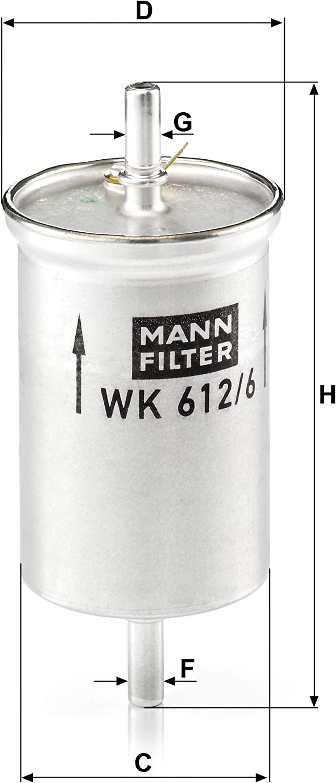 F/ür PKW Mann Filter WK6126 Kraftstofffilter /& Luftfilter C 1041